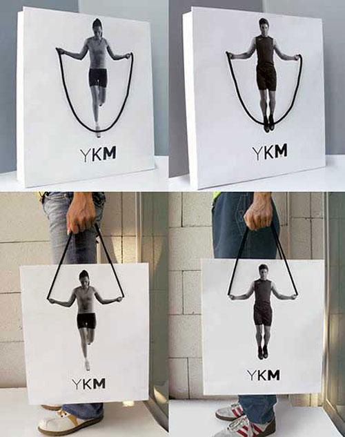 YKM Bag: shopping bag clearly promotes the active way of life