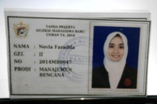 ID Card Peserta Tes Unhan
