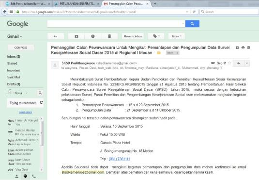 email konfirmasi panitia SKSD